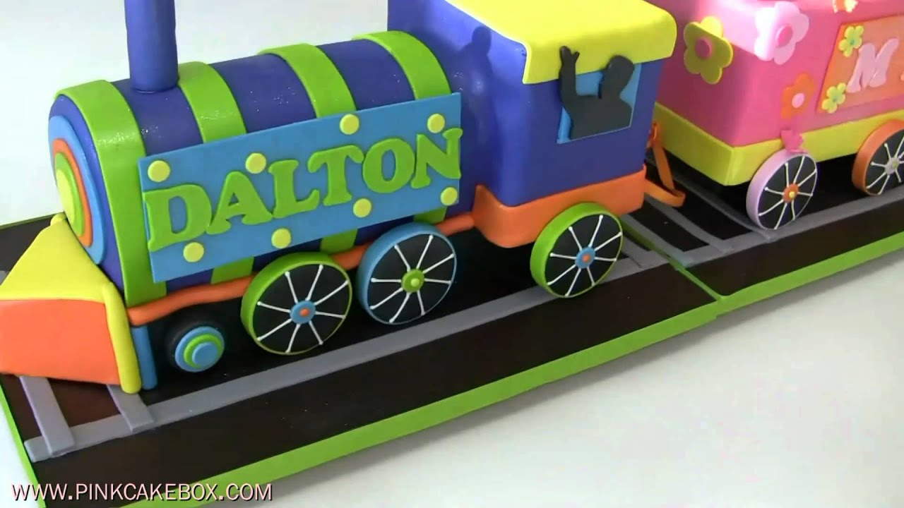 Train Shaped Birthday Cake