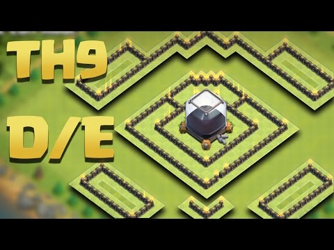 Town Hall 9 New Best DARK Elixir Farming Base (TH9 DE Protection) |