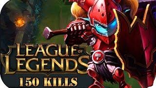 ÜBER 150 KILLS INGAME POPPY JUNGLE | League of Legends Gameplay deutsch