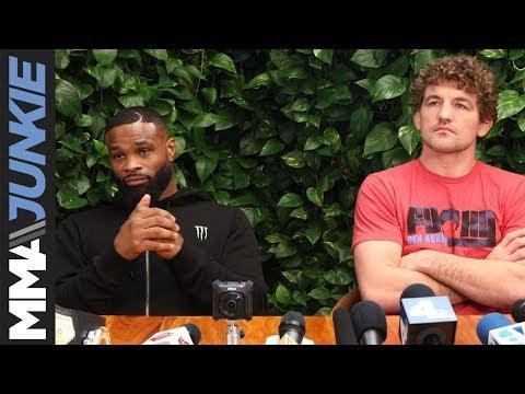 UFC 235: Tyron Woodley, Ben Askren media lunch in Los Angeles