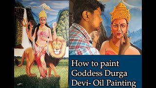 Making of Goddess Durga painting..