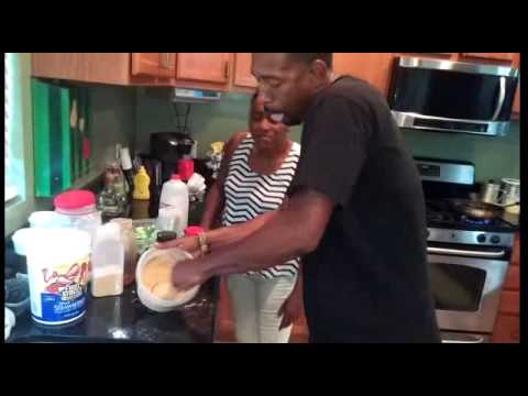 Auntie Fee and Comic Kevin Tate in the Kitchen