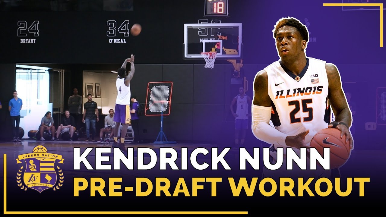 Lakers Pre-Draft Workout: Oakland Guard Kendrick Nunn (Lakers Mentality Drill)