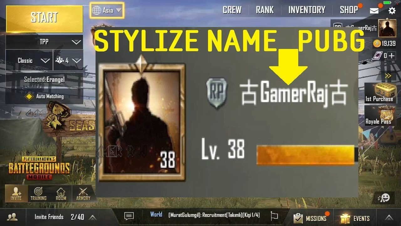 How To Stylize Your Player Name In Pubg Mobile Game Youtube