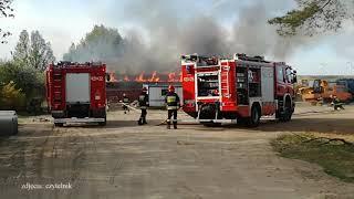 Groźny pożar w żwirowni
