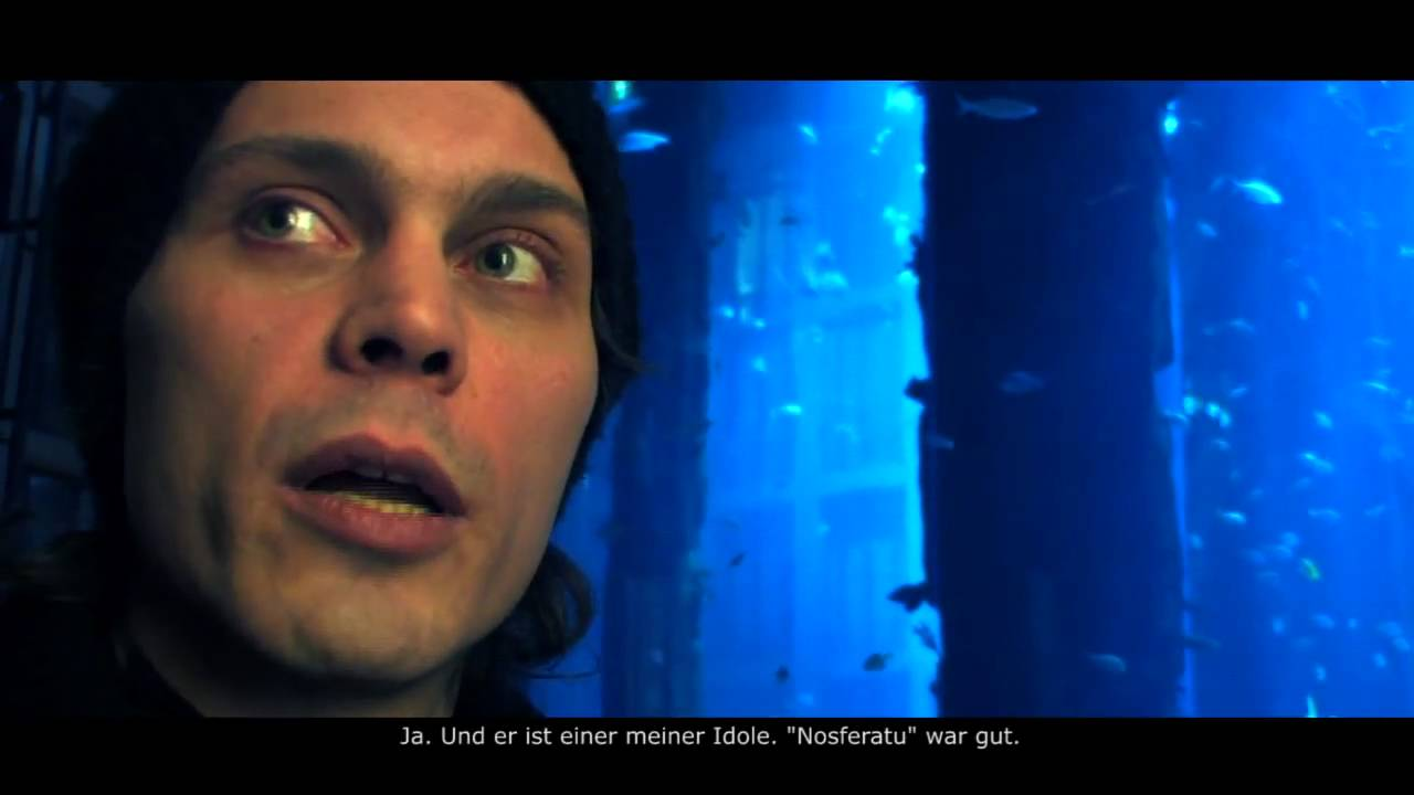 Him Interview Ville Valo Shows His Tattoo In Front Of The Aquadom German Subtitles Pitcam