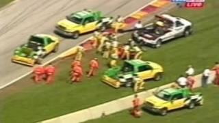 Repeat youtube video 2001 CART Memo Gidley hits the bridge at Road America