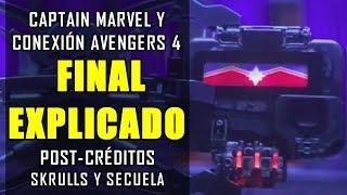 ¿QUÉ DEMONIOS PASÓ? La Escena final y post-créditos de Captain Marvel (Capitana Marvel)| Explicación