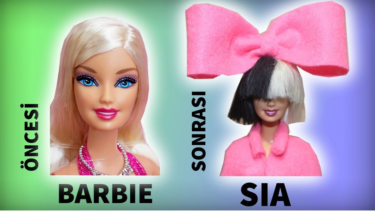 Barbie Sia Saç ve Kıyafet Tasarımı Barbie yenileme ve giydirme Barbie Dönüşümü Bidünya Oyuncak