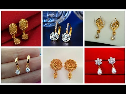 WOW VERY GORGEOUS & ELEGANT GOLD STUD EARRING DESIGNS \ LATEST STUD EARRING IDEAS || S.C
