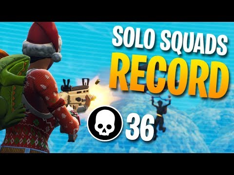 36 KILLS SOLO vs. SQUADS World Record (Fortnite Battle Royale)