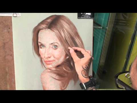 step by step soft pastel portrait painting cameron diaz.mov