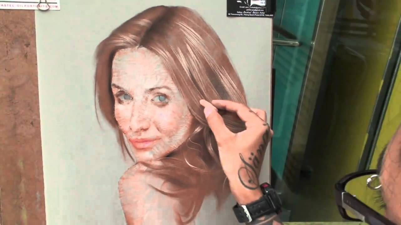 Step by step soft pastel portrait painting cameron diazv youtube ccuart Images