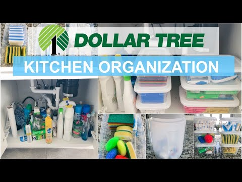 HOW TO ORGANIZE A SMALL SPACE   DOLLAR TREE HAUL & ORGANIZATION