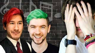 REACTING TO MY OLD MARKIPLIER AND JACKSEPTICEYE SONGS