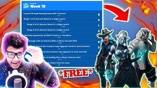 "*NEW* OVERTIME FREE SKINS in Fortnite! NEW ""WEEK 10 CHALLENGES"" (New Fortnite Update )"