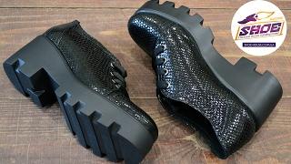 Женские кожаные туфли WRIGHT на тракторной подошве