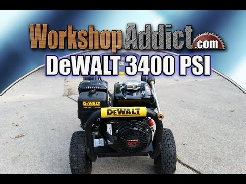 DeWALT 3400 PSI 2.5 GPM Gas Pressure Washer powered by Honda
