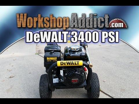 DeWALT 3400 PSI 2.5 GPM Gas Pressure Washer powered by Honda