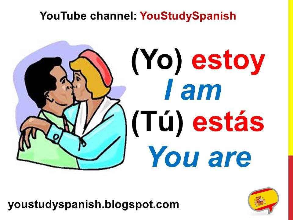 Spanish Lesson 18 - Conjugate Spanish Verb ESTAR conjugation ...