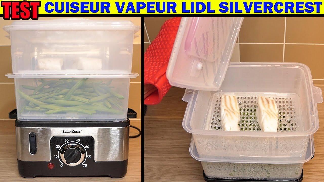 lidl cuiseur vapeur silvercrest sdg 950 w test steamer dampfgarer vaporiera elettrica
