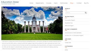 Hide Front/Home page Content on Education Base WordPress Theme