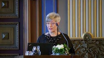Tuntematon tulevaisuus-selvityksen julkistustilaisuus: valtuutettu Kirsi Pimiä