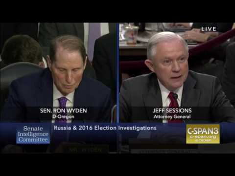 Fireworks Between Jeff Sessions and Sen. Ron Wyden