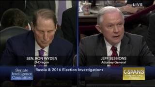 Fireworks Between Jeff Sessions and Sen. Ron Wyden Free HD Video