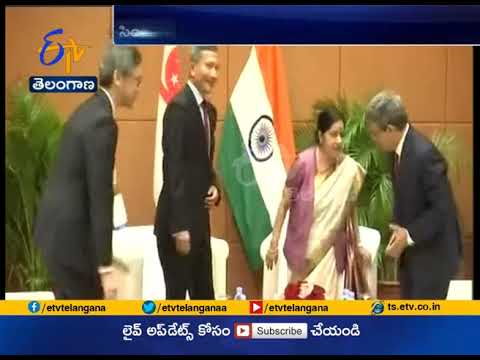 Sushma Swaraj Meets Singapore Foreign Minister | Discusses Ttrade And Bilateral Relations