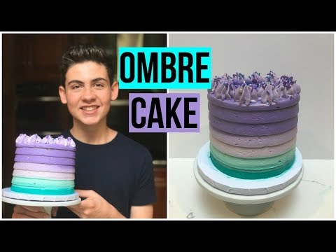 How To Make an OMBRE CAKE - Baking With Ryan Episode 74