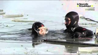 Entraînement sous la glace des pompiers de l'Indre
