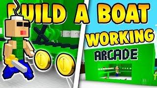 NEW ARCADE MACHINE!! - Build a Boat ROBLOX