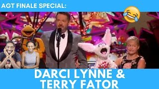 Darci Lynne and Terry Fator Deliver An Unbelievable Performance - America's Got Talent 2017 REACTION