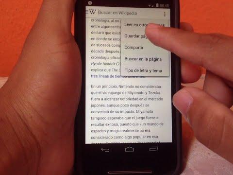 Wikipedia app movil español