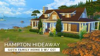 Sims 4  |  Speedbuild  |  Goth Family - Hampton Hideaway