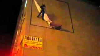 Промальп. Демонтаж аварийного баннера в сильный ветер.(, 2011-01-06T01:22:01.000Z)
