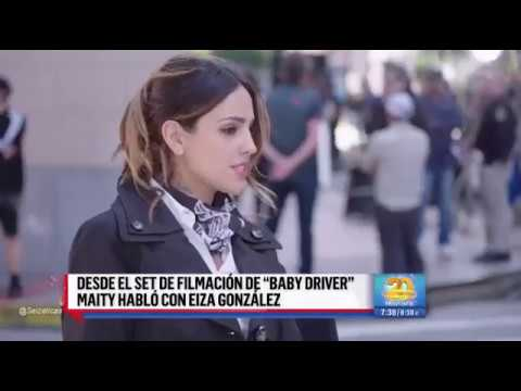 Eiza González y Jon Hamm desde baby driver