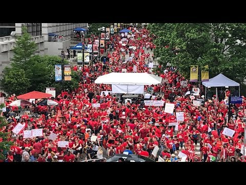 Watch Live: Thousands of teacher's rally in Raleigh, North Carolina