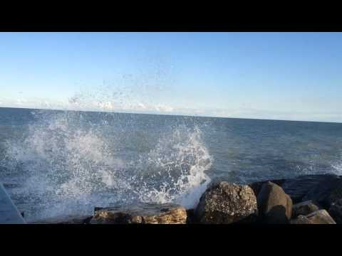 Waves crashing slo mo 2 of 2