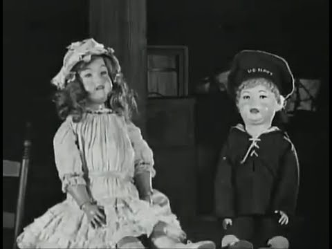 "Antique Dolls in ""A Little Princess"" - 1917 Silent Film Starring Mary Pickford & Zasu Pitts"