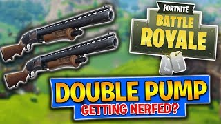 DOUBLE POMPE SE NERFED?! Fortnite Bataille Royale