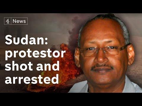 Sudan protester under arrest in hospital after being shot