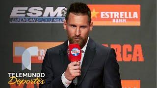 El humilde agradecimiento de Messi a sus compañeros por la Bota de Oro | Telemundo Deportes