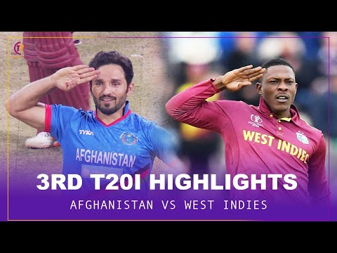 Afghanistan vs West Indies 3rd T20I match highlights
