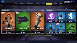 *NEW*Supersonic Skin & Stealth Black Wrap! Fortnite Item Shop April 17, 2019