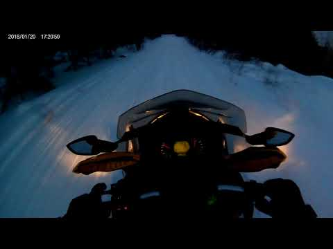 2016 Ski Doo Blizzard and Rengade with mountain cans trail riding, part 2