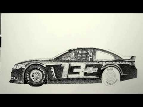 Drawing The Nascar 13 Car Lesson 7
