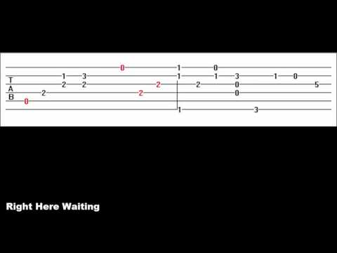 Right Here Waiting (Guitar Tab)
