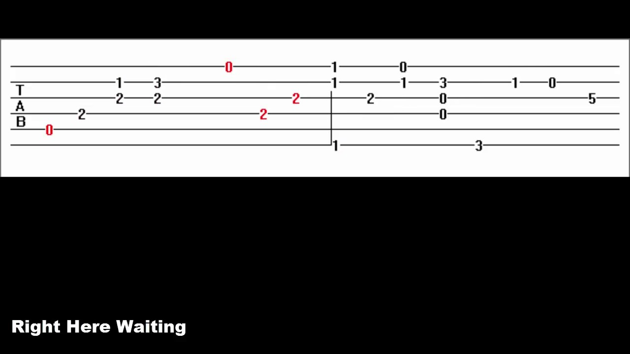 right here waiting guitar tabs pdf